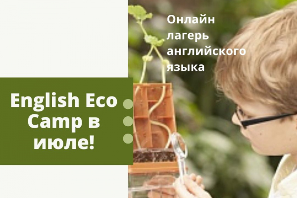 English Eco Camp в июле 2020 года